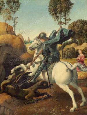 Saint George and the Dragon - Sanzio Raffaello