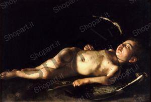 Sleeping Cupid - Caravaggio Michelangelo Merisi