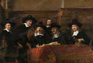 The Staalmeesters the College of sampling (waardijns) of the Amsterdam cloth makers guild - Rembrandt Harmenszoon van Rijn