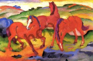 The Red Horses - Marc Franz