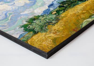 Wood panel print